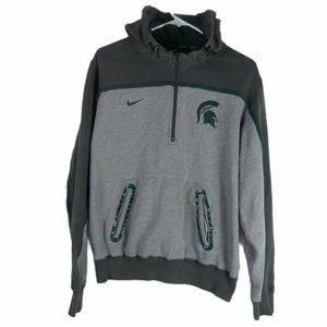 Nike Elite 1/4 Zip Hoodie Michigan State Spartans